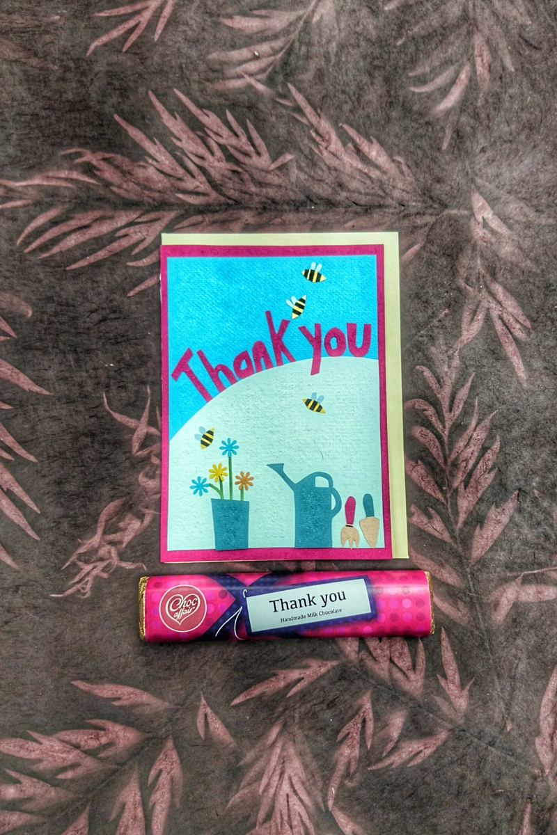 Thank You Message Card and Bar