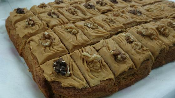Fairtrade Coffee and walnut cake