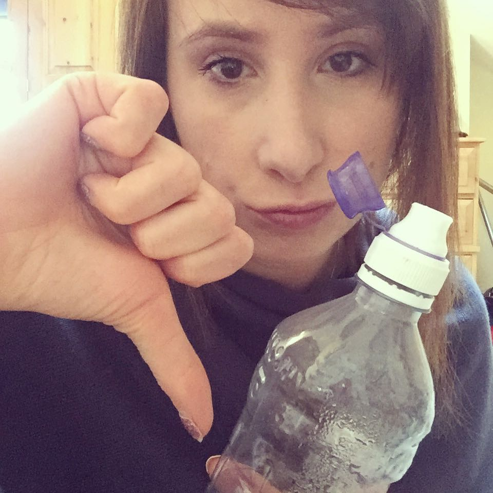 Lucy thumbs down to plastic